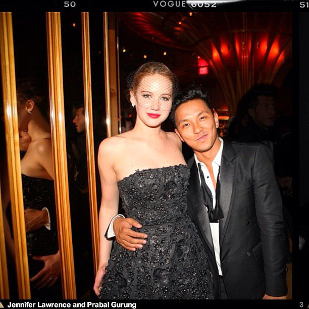 Designer Prabal Gurung shared his excitement to meet Jennifer Lawrence at the Met Gala. Source: Instagram user prabalgurung