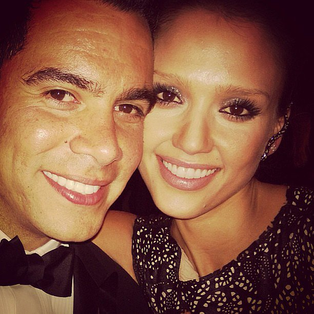Jessica Alba cuddled up to her husband Cash Warren. Source: Instagram user jessicaalba