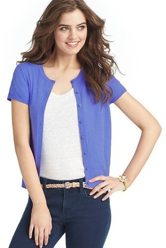 Petite Short Sleeve Cotton Cardigan