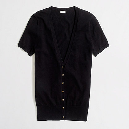 Factory short-sleeve summerweight cotton cardigan