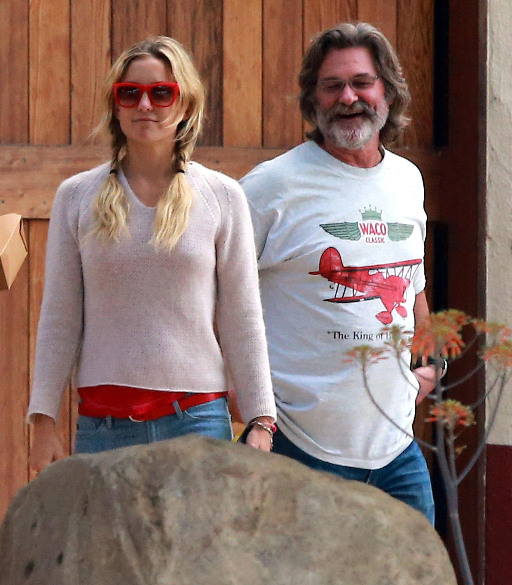 Kate Hudson and Kurt Russell spent Monday at a winery in Santa Barbara, CA.