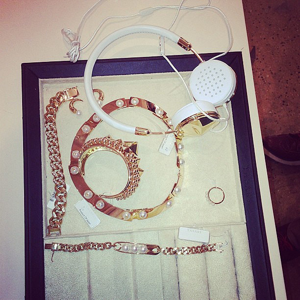 Rita Ora gave a sneak peek of her accessories for the event. Source: Instagram user ritaora