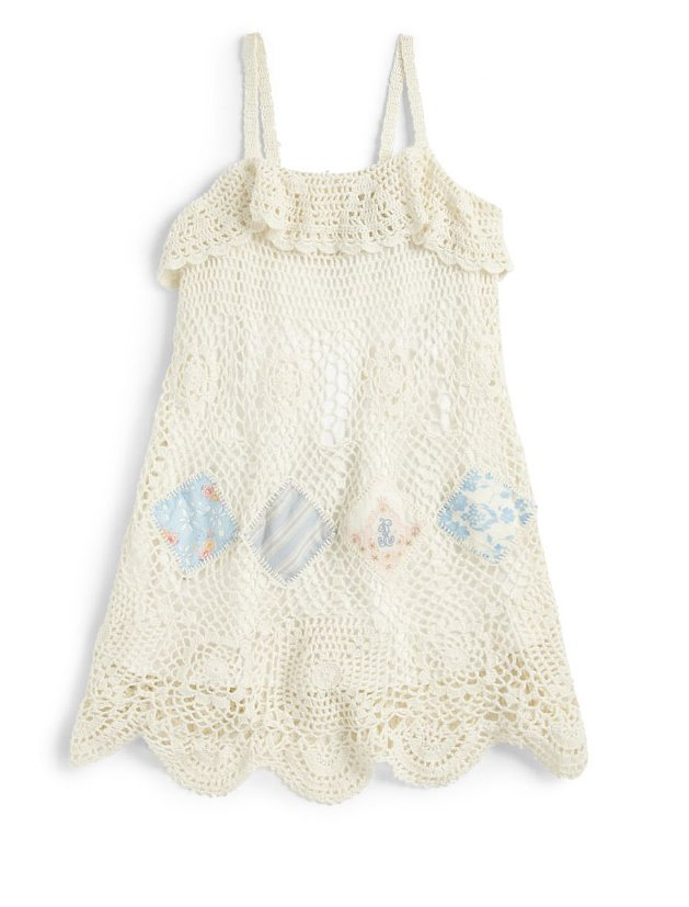 Dress your flower child in this Ralph Lauren open-knit crocheted sund