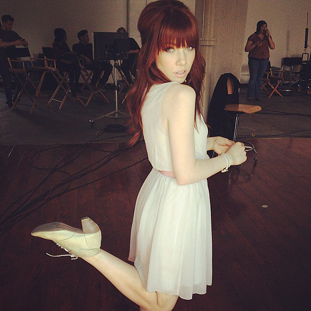 Carly Rae Jepsen showed off her new red locks! Source: Instagram user carlyraejepsen