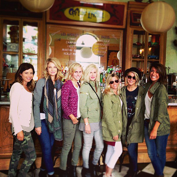 Julianne Hough was surprised to find that she and her friends all wore military-inspired looks to lunch. Source: Instagram user juleshough