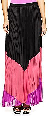 Allen B.® Colorblock Pleated Long Skirt