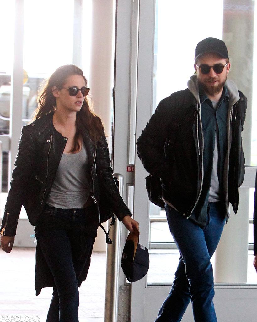 Robert Pattinson and Kristen Stewart arrived at JFK.