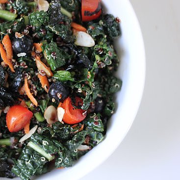adapted from urban picnic and epicurious kale and quinoa superfood