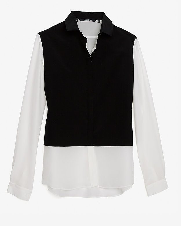 The silk button-up has pinch-hit for many an outfit, earning a spot in every smart dresser's arsenal. Neil Barrett's black-on-white take ($550) gives it a graphic quality that's perfect for a minimalist closet.