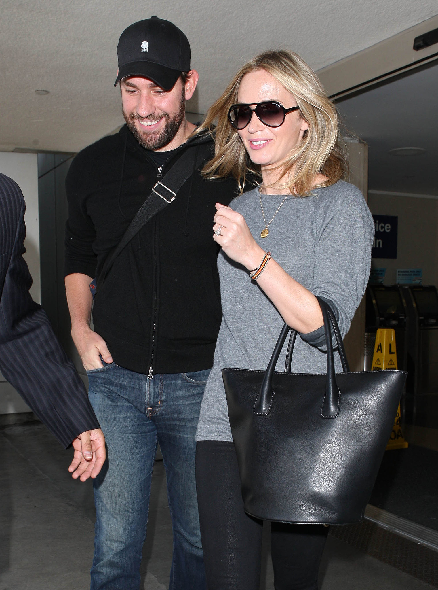 John Krasinski and Emily Blunt Return to LA to End His Office Run