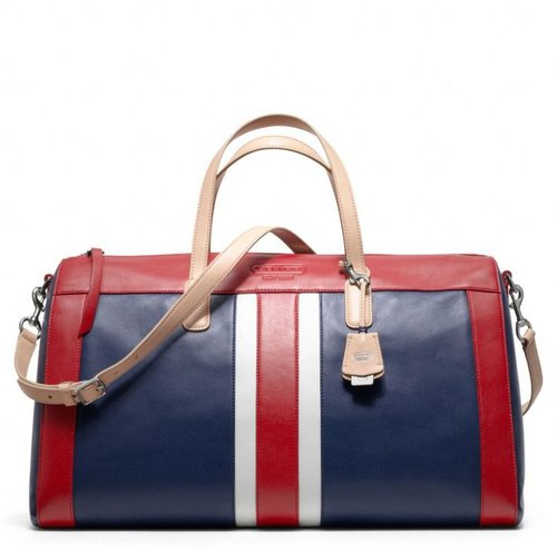 Legacy Weekend Beach Leather Stripe Boston Bag