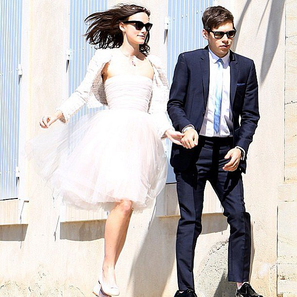 """Phoebe Tonkin shared this photo of Keira Knightley's wedding to James Righton, along with the caption, """"Future wedding inspiration"""". Cute, right? Fun fact: the dress is a Rodarte one that Keira's had since 2008."""