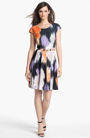 Alex & Ava Print Fit & Flare Dress