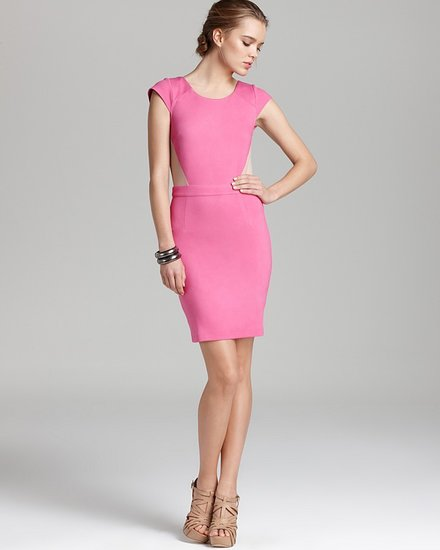 Madison Marcus Cap Sleeve Dress - with Mesh Back