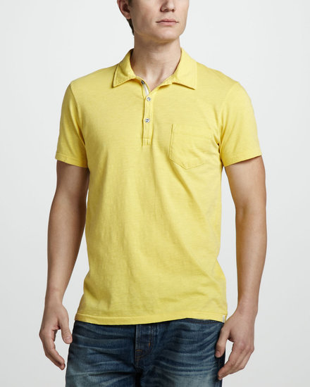 Sol Angeles Slub Pocket Polo, Banana