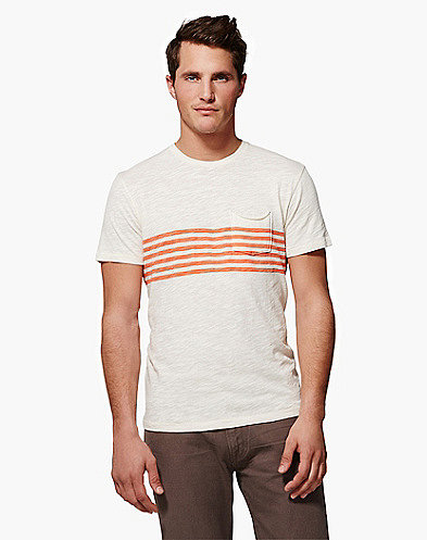 Chest Stripe Pocket Crew T-Shirt