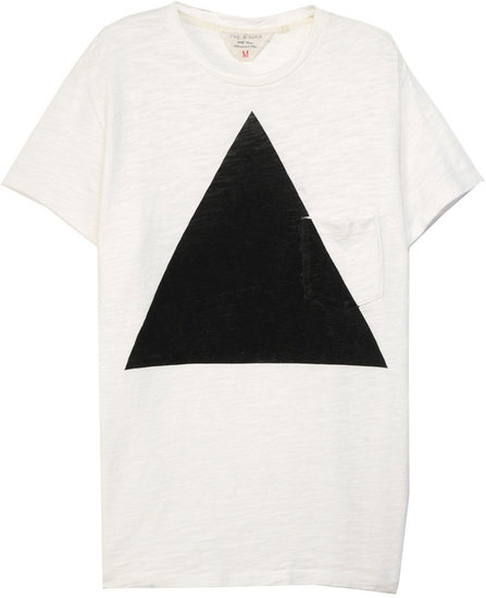 Triangle Pocket Tee - White Flame Cotton