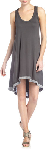 Wilt Tipped Tank Dress, Charcoal/Gray Heather