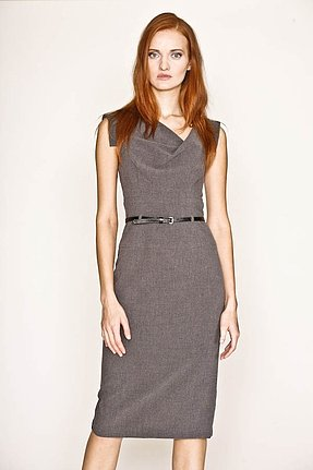 Black Halo Jackie O Sheath Dress in Charcoal