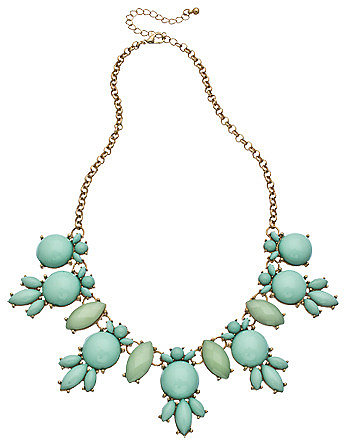 Blu Bijoux Gold and Aqua Bubble Necklace