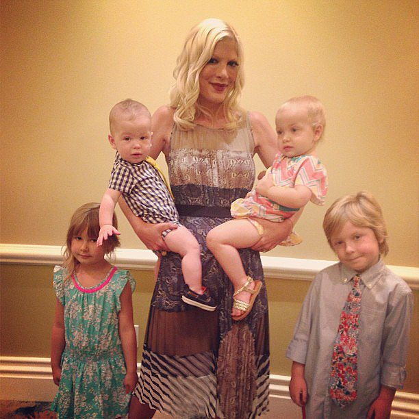 Tori Spelling was surrounded by her brood of four on Mother's Day. Source: Instagram user torianddean