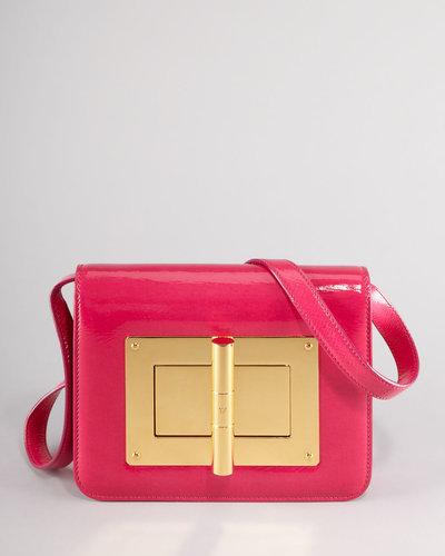 Tom Ford Natalia Medium Hot Pink Patent Shoulder Bag