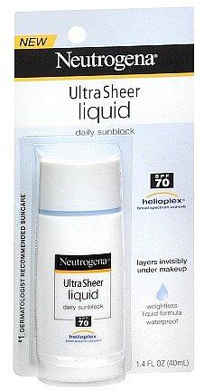 Neutrogena Ultra Sheer Liquid Daily Sunblock SPF 70