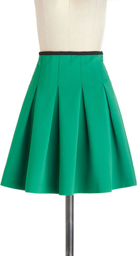 Working Order Skirt in Green
