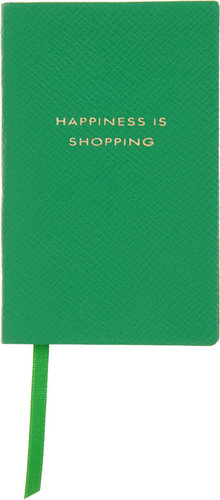 Smythson Happiness is Shopping Wafer Notebook
