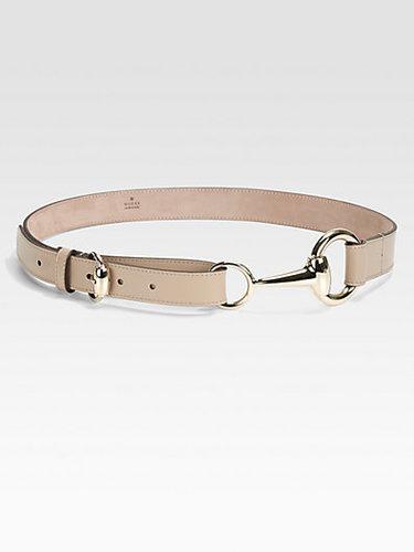 Gucci Selleria Horsebit Buckle Belt