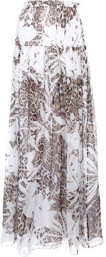 Blumarine maxi leopard print skirt