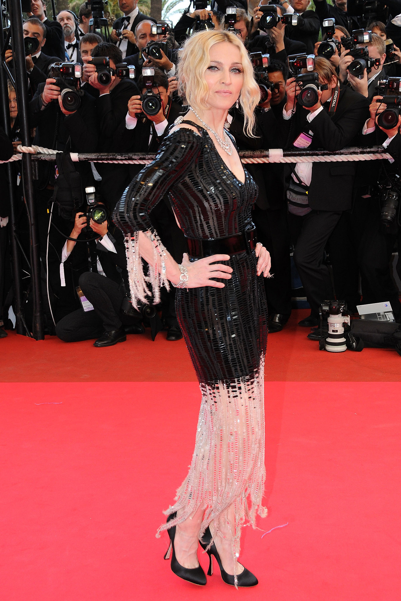 Madonna struck a pose at the I Am Because We Are premiere during the 61st Cannes Film Festival in 2008.