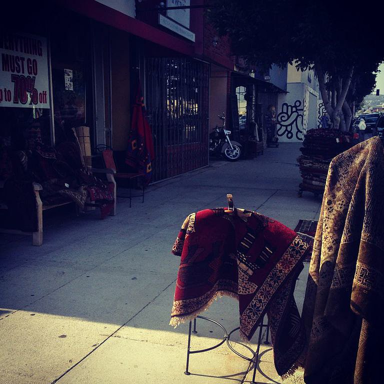 Not all shops on La Brea are modern and streamlined. The are several smaller shops where you can score wholesale finds like rugs and textiles.
