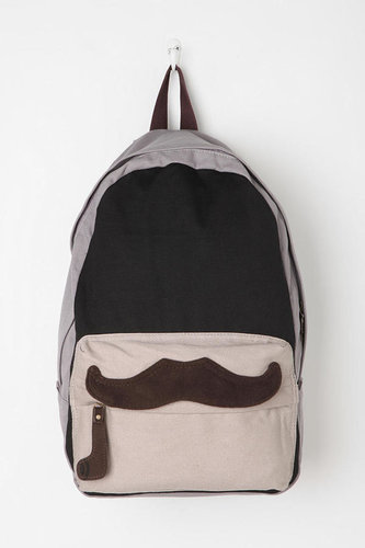 Carrot Colorblock Mustache Backpack