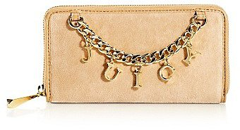Iconic Charm Velour Zip Wallet