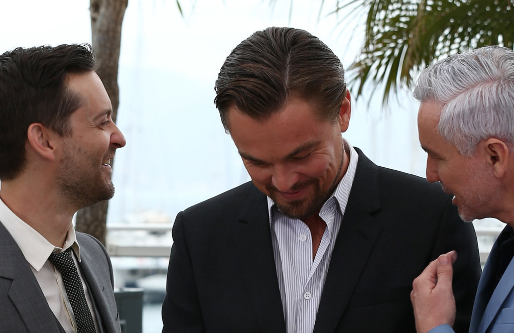 Leonardo DiCaprio and his good friend Tobey Maguire had a laugh with director Baz Luhrmann at the Great Gatsby photocall in Cannes.
