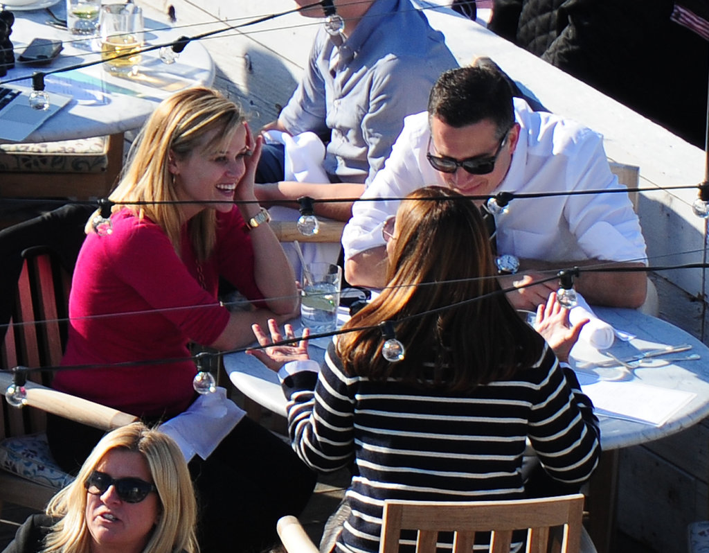 Reese Witherspoon and Jim Toth met up with a friend for lunch.