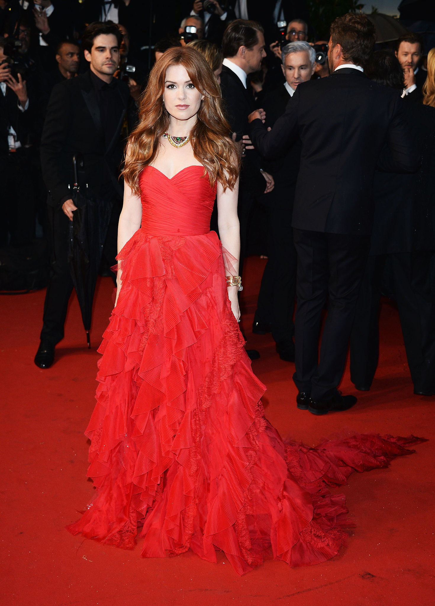 Isla Fisher walked the red carpet at The Great Gatsby's premiere.