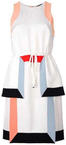 Fendi sleeveless drawstring dress
