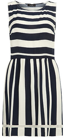 Ink and ivory striped dress