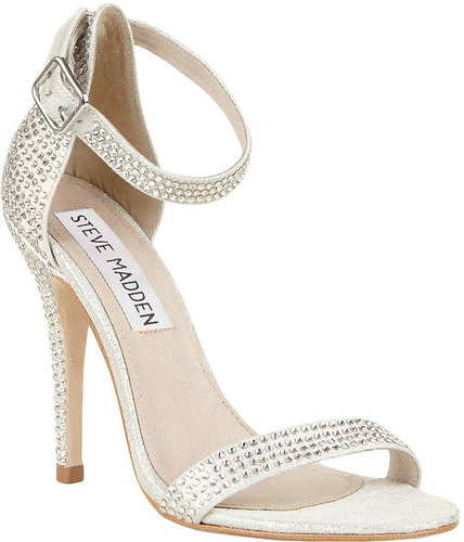 STEVE MADDEN Realov-R High-Heel Sandals with Rhinestone Accents