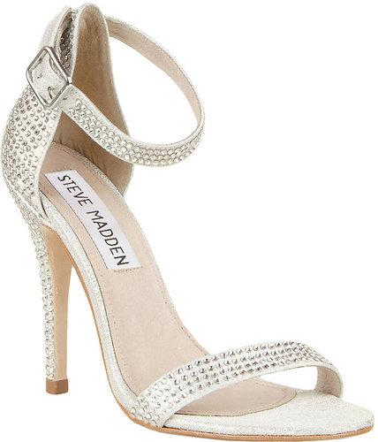 STEVE MADDEN Realov-R High-Heel Sandals with Rhinestone Accents