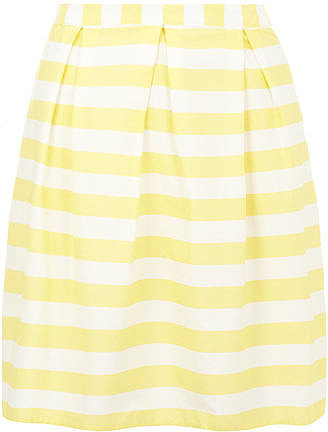 Yellow and white stripe skirt