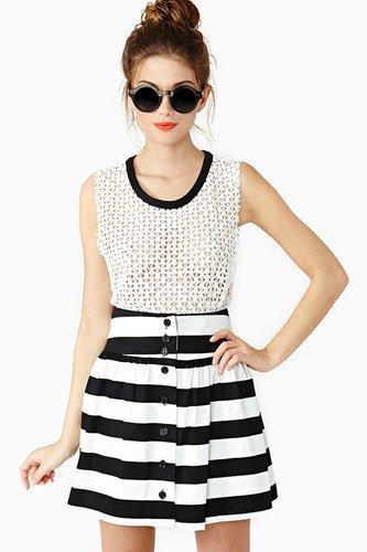 Lydia Stripe Skirt