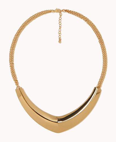 FOREVER 21 Boomerang Bib Necklace