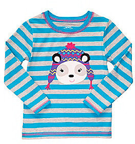 Carter's® Girls' 2T-6X Blue Striped Long Sleeve Dog Tee