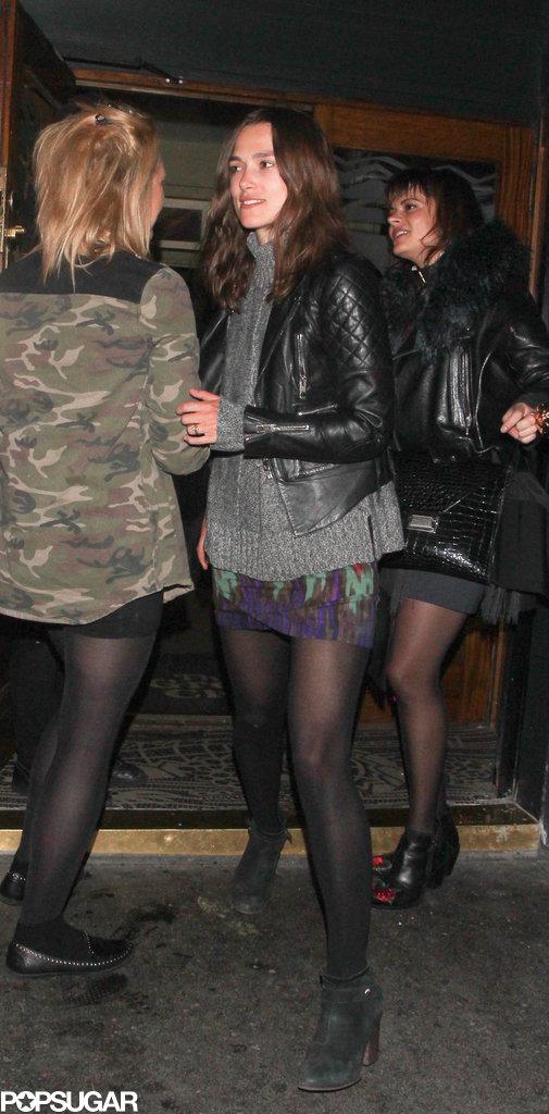 Keira Knightley left a club in London.