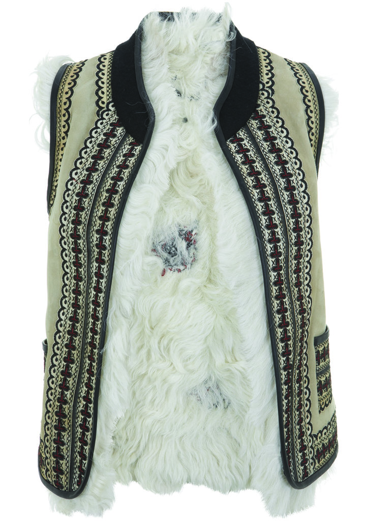 This furry and embroidered vest from the Topshop Festival Collection for Summer 2013 has Kate Bosworth's name written all over it.