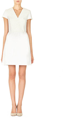 RAOUL Lace Paneled Pleated Lara Dress