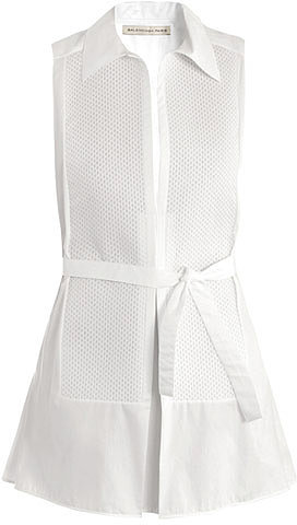 Balenciaga Poplin macro-pique shirt dress